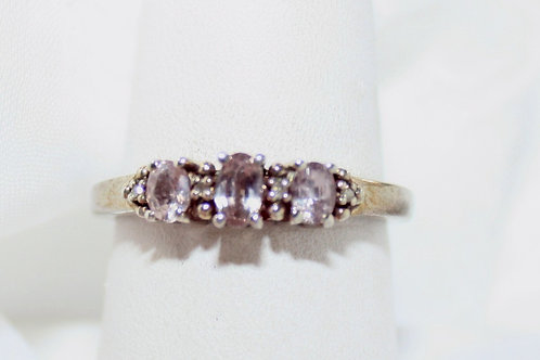 Purple & Silver Ring