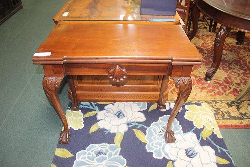 Antique Flip Top Game Table
