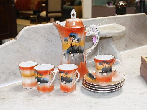 Antique Japanese Hot Chocolate Set