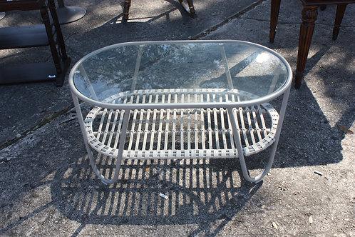 Gray & Glass Coffee Table