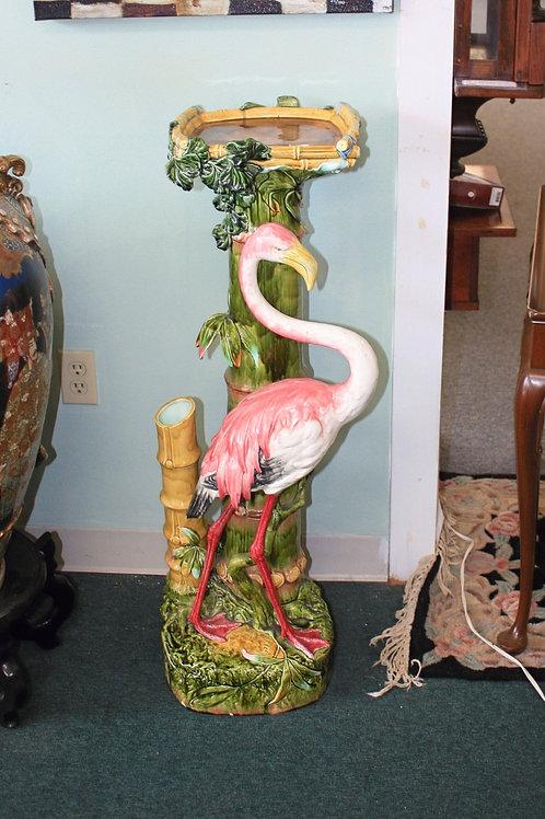Flamingo Majolica Plant Stand c1890