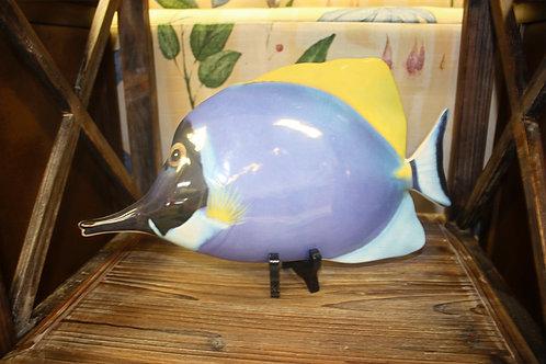 Blue Tang Ceramic Fish