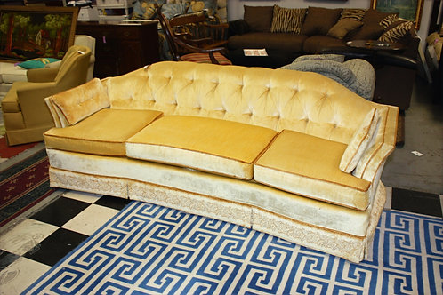 Mediterranean Hollywood Yellow Velvet Sofa