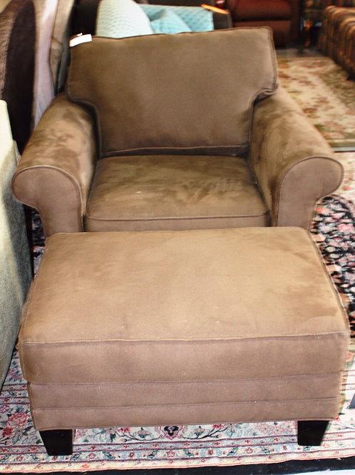 Oversized Green Chair & Ottoman