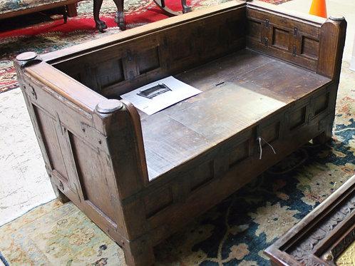 Vintage Hand Carved Wooden Bench