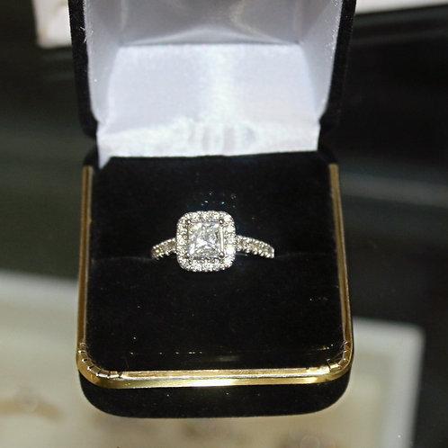 14kt White Gold 1.21ct Diamond Center