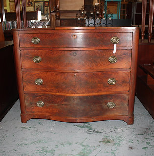 Antique #5 Mag Bow Front Dresser