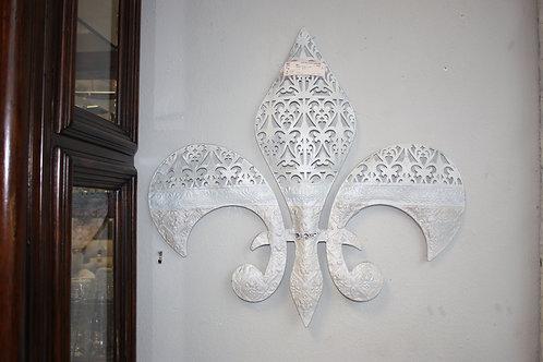 Indoor/ Outdoor Metal & Crystal Fleur De Lis