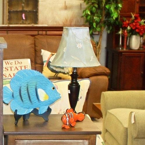 Set of 2 Blue Flower Lamps