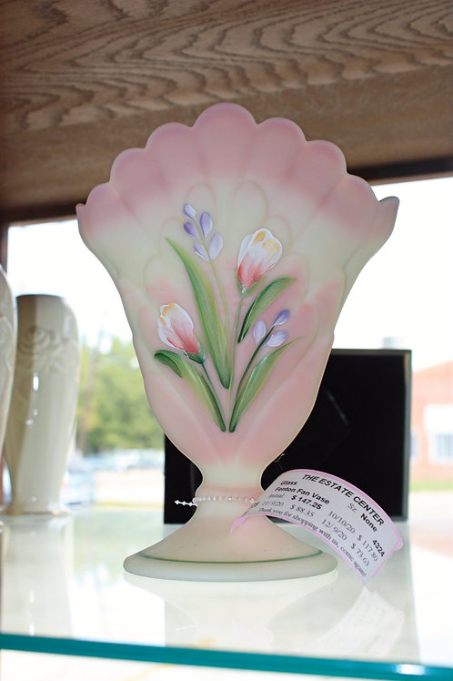 Fenton Pink Flower Vase