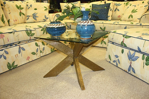 H. M. Richards Glass & Gold Coffee Table