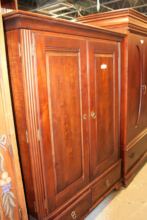 Wood TV Armoire with Drawers
