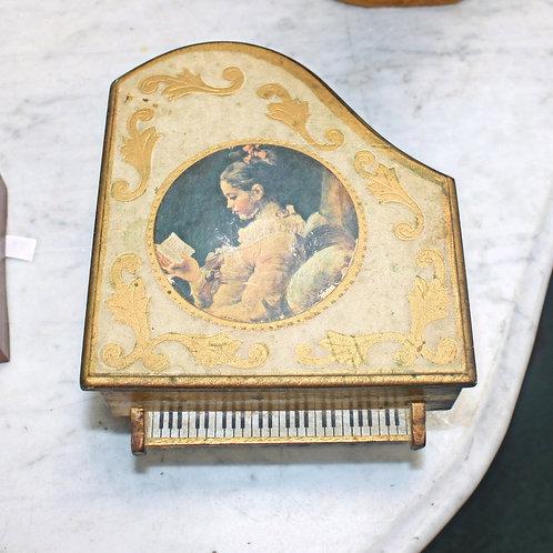 Antique Piano Music Box Jewelry Box