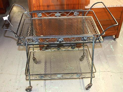 Black Metal Bar Cart