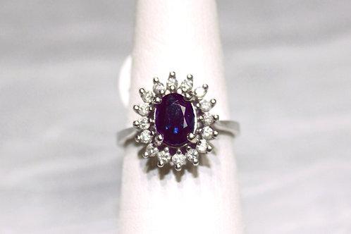 14kt White Gold Sapphire