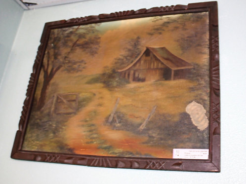 Cabin in Country on Canvas