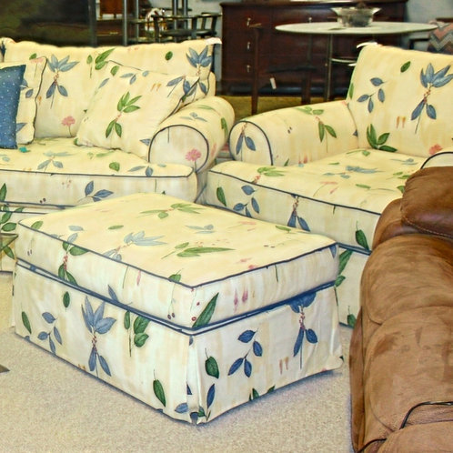 H. M. Richards Chair & Ottoman