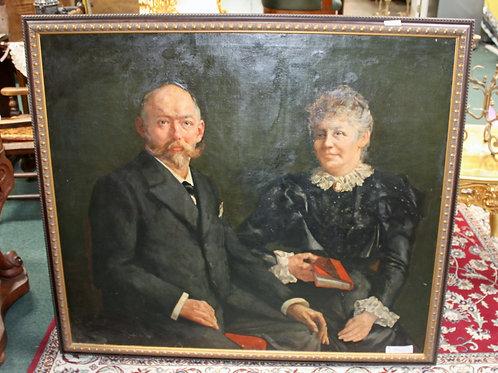 #19 Belgium Oil Couple Canvas