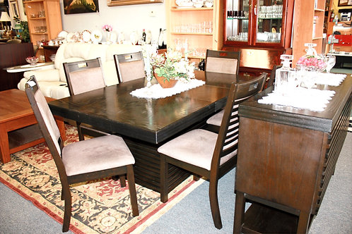 Wood Table & 6 Chairs