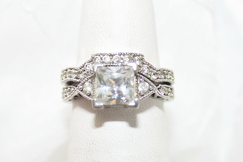 Crystal Wedding Set Princess Cut