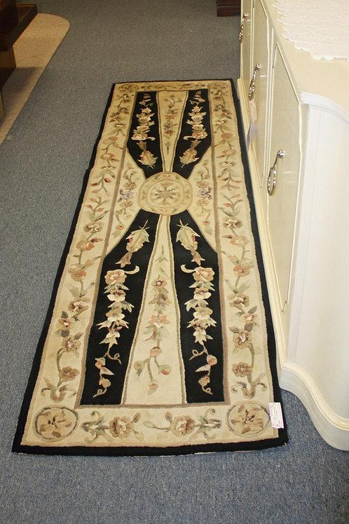 Black & Tan Oriental Rug