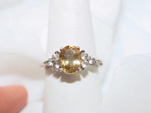 CZ Citrine Ring