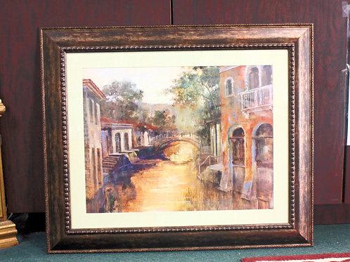Framed Venice Painting