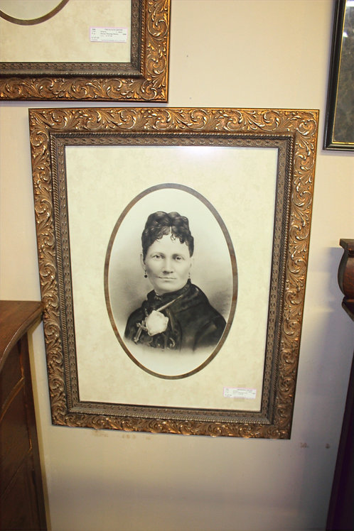Antique Woman Wearing Cross Picture