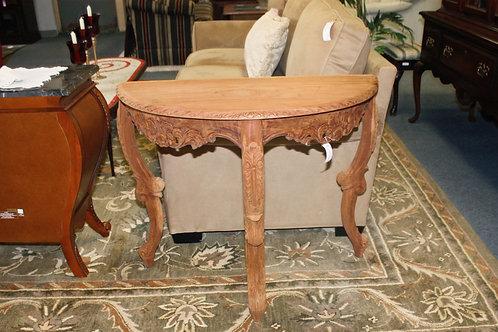 Solid Cypress Half Moon Table