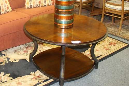 Wood & Metal Round Coffee Table