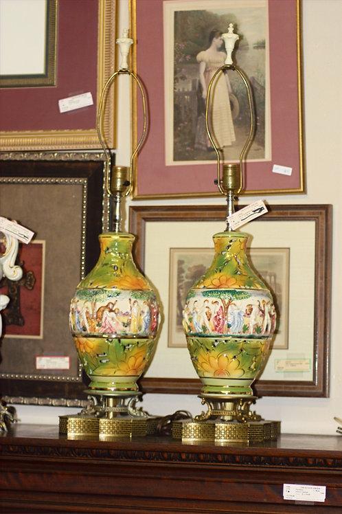 Capodimonte Porcelain Lamps - Set of 2