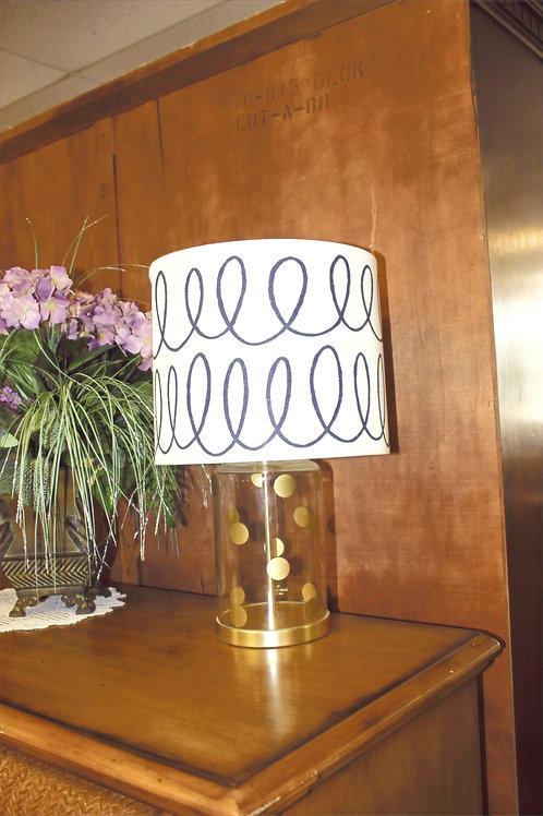 Kate Spade Gold Polka Dot Lamp