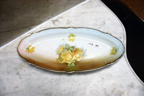 Antique Yellow Rose Dish Made in Germany