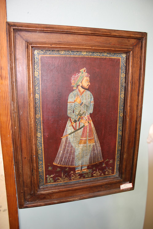 Indian Man Picture Wood Frame