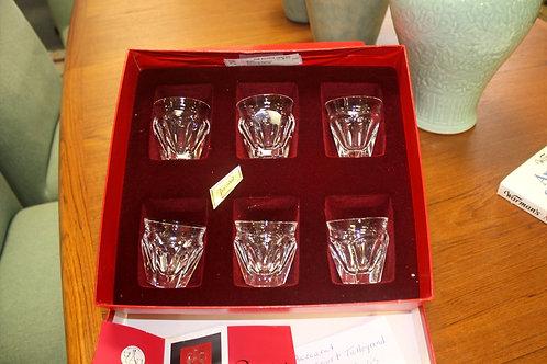 Baccarat Harcourt Talleygrand Saki Glasses