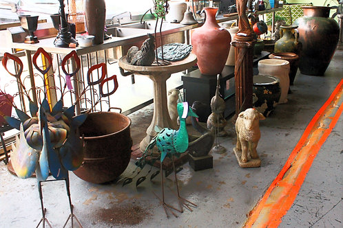 Pots, Bird Baths, Statues, etc. (Starting at $5)