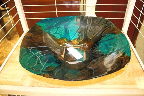 16x16 Blue Glass Bowl