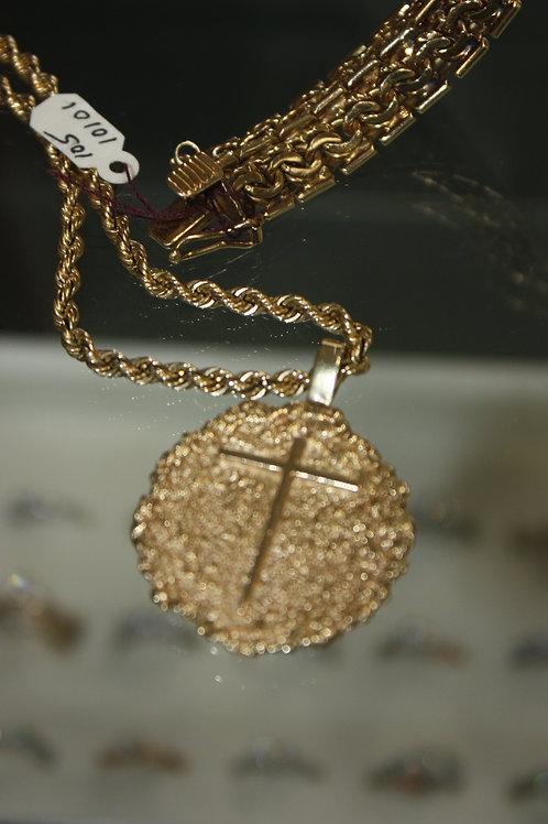 14kt Cross Chain 22pw