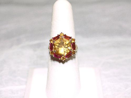 10kt Gold Garnet