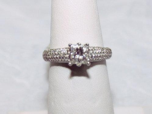 18kt White Gold .72ct Diamond Ring