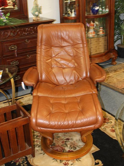 Ekornes Danish Chair & Ottoman
