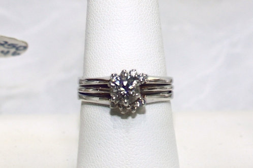14kt White Gold .70 Diamond Wedding Set