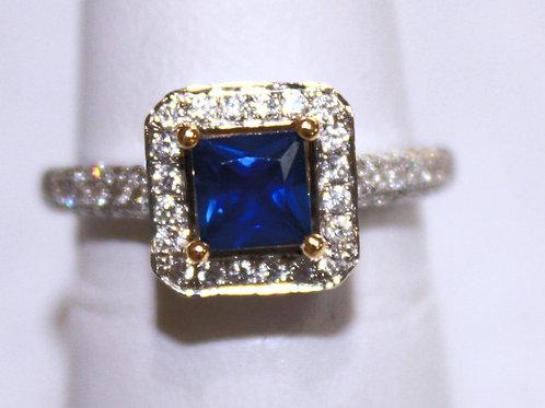.83ct Sapphire .62cttw Diamond 18kt WG