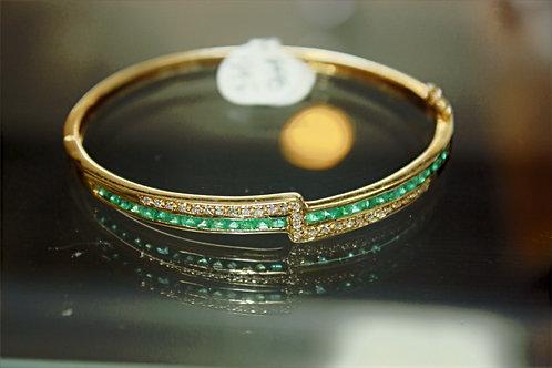 14kt Diamond & Emerald 6.5 ct pw