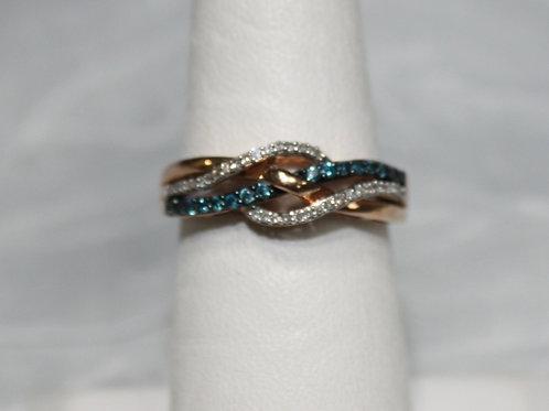 10kt Gold Diamond & Sapphire Ring