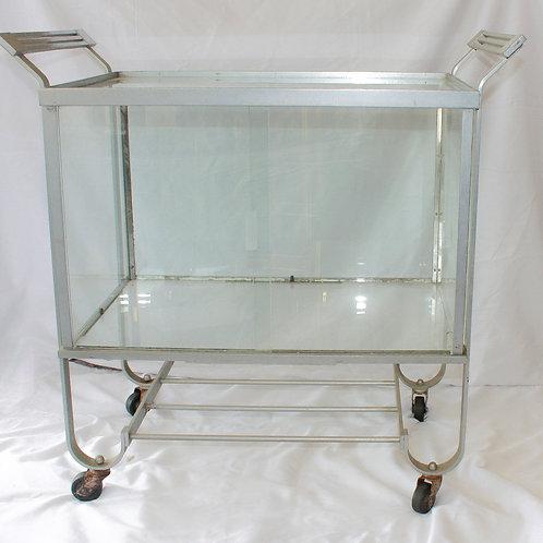 Silver & Glass Bar Cart