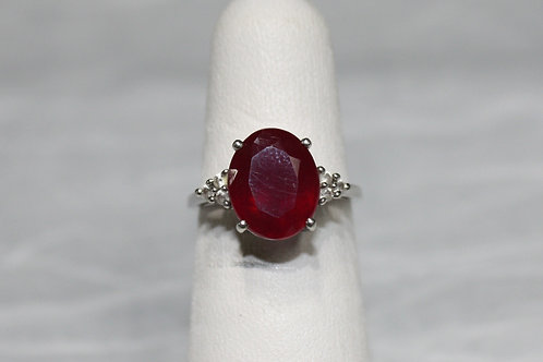 10kt White Gold Red