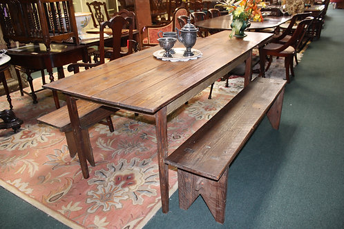 Farmhouse Table & 2 Benches