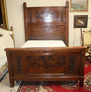 Antique Burl Full Bed