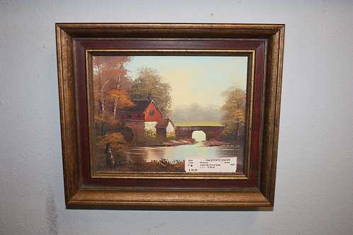 Cabin by the Floodgate Painting